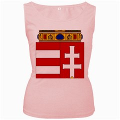 Coat of Arms of Hungary  Women s Pink Tank Top
