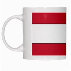 Coat of Arms of Hungary  White Mugs