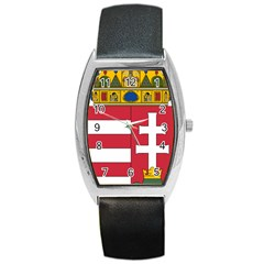 Coat of Arms of Hungary  Barrel Style Metal Watch