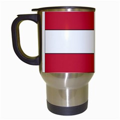 Coat of Arms of Hungary  Travel Mugs (White)