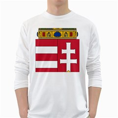 Coat of Arms of Hungary  White Long Sleeve T-Shirts