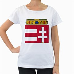 Coat of Arms of Hungary  Women s Loose-Fit T-Shirt (White)