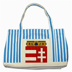 Coat of Arms of Hungary  Striped Blue Tote Bag