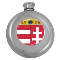 Coat of Arms of Hungary  Round Hip Flask (5 oz)