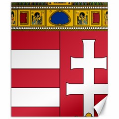 Coat of Arms of Hungary  Canvas 8  x 10