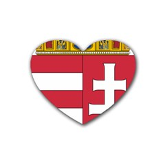 Coat of Arms of Hungary  Heart Coaster (4 pack)