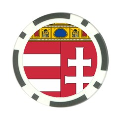 Coat of Arms of Hungary  Poker Chip Card Guard