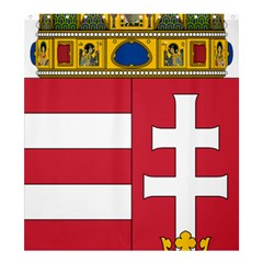 Coat of Arms of Hungary  Shower Curtain 66  x 72  (Large)