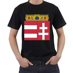 Coat of Arms of Hungary  Men s T-Shirt (Black)