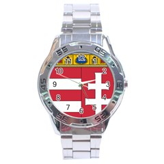 Coat of Arms of Hungary  Stainless Steel Analogue Watch
