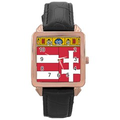Coat of Arms of Hungary  Rose Gold Leather Watch