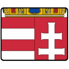 Coat of Arms of Hungary  Double Sided Fleece Blanket (Medium)