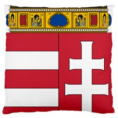 Coat Of Arms Of Hungary  Large Flano Cushion Case (two Sides)