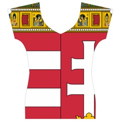 Coat of Arms of Hungary  Women s V-Neck Cap Sleeve Top