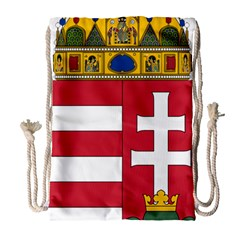 Coat of Arms of Hungary  Drawstring Bag (Large)