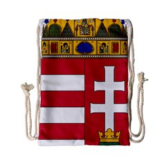 Coat of Arms of Hungary  Drawstring Bag (Small)