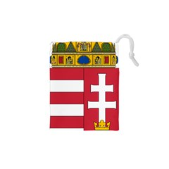 Coat of Arms of Hungary  Drawstring Pouches (XS)
