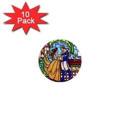 Happily Ever After 1 - Beauty and the Beast  1  Mini Button Magnet (10 pack)
