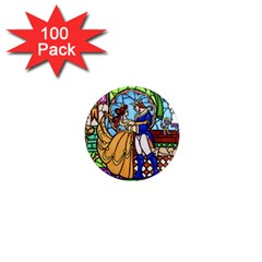 Happily Ever After 1 - Beauty and the Beast  1  Mini Button Magnet (100 pack)