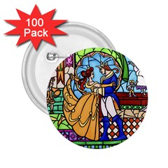Happily Ever After 1 - Beauty and the Beast  2.25  Button (100 pack)