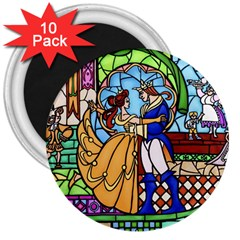 Happily Ever After 1 - Beauty and the Beast  3  Button Magnet (10 pack)