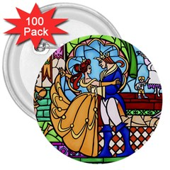 Happily Ever After 1 - Beauty and the Beast  3  Button (100 pack)