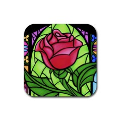 Happily Ever After 1   Beauty And The Beast Rubber Coaster (Square)