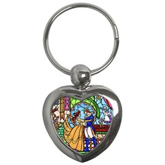 Happily Ever After 1 - Beauty and the Beast  Key Chain (Heart)