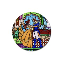 Happily Ever After 1   Beauty And The Beast Rubber Coaster (Round)