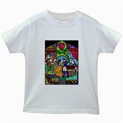 Happily Ever After 1 - Beauty and the Beast  Kids T-shirt (White)