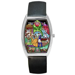 Happily Ever After 1   Beauty And The Beast Barrel Style Metal Watch