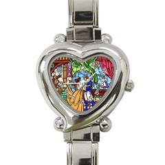 Happily Ever After 1   Beauty And The Beast Heart Italian Charm Watch