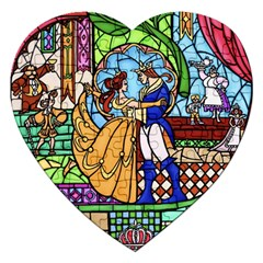 Happily Ever After 1   Beauty And The Beast Jigsaw Puzzle (Heart)