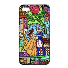 Happily Ever After 1   Beauty And The Beast Apple iPhone 4/4s Seamless Case (Black)