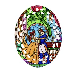 Happily Ever After 1   Beauty And The Beast Ornament (Oval Filigree)