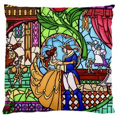 Happily Ever After 1   Beauty And The Beast Large Cushion Case (One Side)