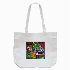 Happily Ever After 1   Beauty And The Beast Tote Bag (White)