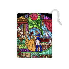 Happily Ever After 1   Beauty And The Beast Drawstring Pouches (Medium)