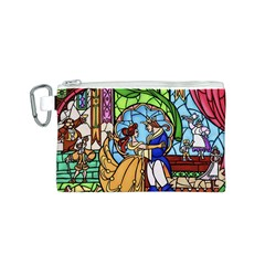 Happily Ever After 1   Beauty And The Beast Canvas Cosmetic Bag (S)