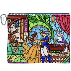 Happily Ever After 1   Beauty And The Beast Canvas Cosmetic Bag (XXXL)