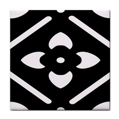 Black And White Pattern Background Tile Coasters