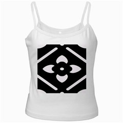 Black And White Pattern Background White Spaghetti Tank
