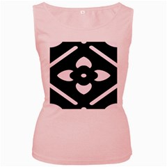 Black And White Pattern Background Women s Pink Tank Top