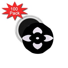 Black And White Pattern Background 1.75  Magnets (100 pack)