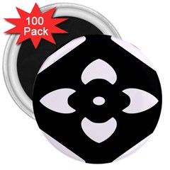 Black And White Pattern Background 3  Magnets (100 pack)