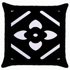 Black And White Pattern Background Throw Pillow Case (black)