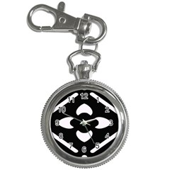 Black And White Pattern Background Key Chain Watches
