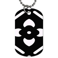 Black And White Pattern Background Dog Tag (two Sides)