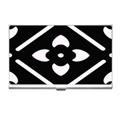 Black And White Pattern Background Business Card Holders