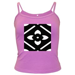 Black And White Pattern Background Dark Spaghetti Tank